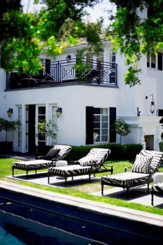 white house, black trim and shutters #dream #home For guide + advice on lifestyle, visit www.thatdiary.com