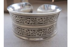 $18 for a Silver-Plated Floral Cuff Bracelet - Shipping Included