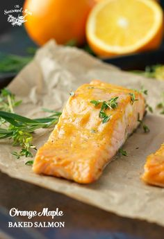 With just 5 simple ingredients and 5 minutes of prep you can prepare a healthy Orange Maple Baked Salmon for the perfect easy dinner!