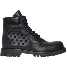 Valentino Men Rockstud Leather Combat Boots (€1.090) ❤ liked on Polyvore featuring men's fashion, men's shoes, men's boots, black, mens black boots, mens black shoes, mens studded shoes, mens leather boots and mens leather combat boots