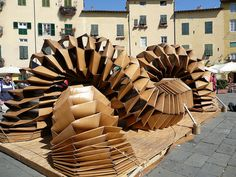 cardboard sculpture Lucca Italy, via Flickr.
