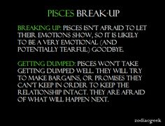 Breaking up with a pisces man