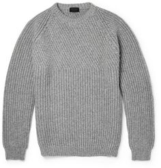 Lanvin Ribbed Wool and Cashmere-Blend Sweater | MR PORTER