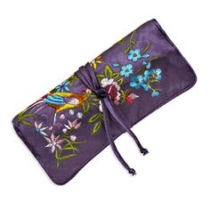 Jewelry Roll - Embroidered Floral