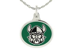 Cleveland State Vikings Jewelry Charms and pendants made in solid sterling silver with enameled background. Cleveland State charms can be worn on a chain or dangle them from a bracelet.  $49