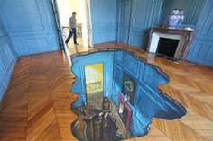 Image: A painted floor for a Google party in Paris (© 3D Joe and Max/Rex Features)