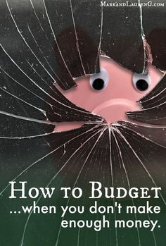 How to Budget when you don't make enough money - this is something that we have first-hand experience with, and you NEED to read these 5 crucial steps! Budget, Budgeting Tips, #budget