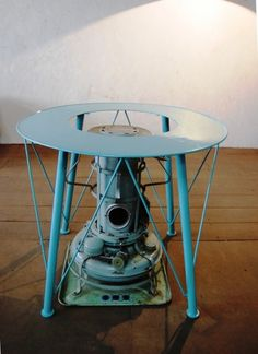 ストーブテーブル+アラジンストーブ < オリジナル家具 < 作品 | Steel Factory 空間の個性を創る、鉄の家具。