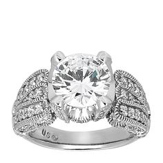 14K White Gold 3.05 cts Round Brilliant Cut $2525