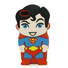 Amazon.com: DD(TM) 3D Cartoon Cute Lovely Stylish Red Superman Soft Silicone Back Case Cover Protective Skin for Apple iphone 5 5S 5G: Cell Phones & Accessories