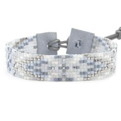 Chan Luu - Light Blue Mix Single Wrap Bracelet on Blue Grey Leather, $120.00 (http://www.chanluu.com/bracelets/light-blue-mix-single-wrap-bracelet-on-blue-grey-leather/)