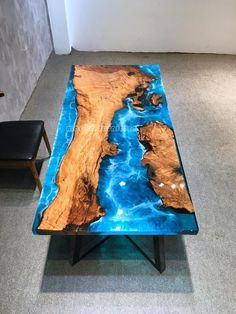 Diy Resin Wood Table, Epoxy Resin Table, Diy Table, Live Edge Furniture, Resin Furniture, Timber Dining Table, Purple Heart Wood, Cool Tables, Coffe Table
