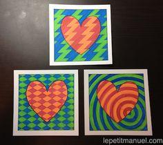 À la recherche du petit quelque chose pour la Fête des Mères ? Ne cherchez plus, vous venez de trouver : voici nos Cartes Op-Art pour enfants, à colorier.