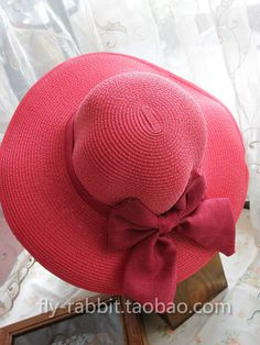 Summer hat of the bow hit the color beach sun hat children