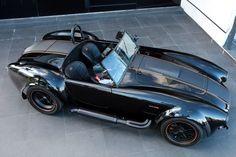 Visit The MACHINE Shop Café... ❤ Best of Ford @ MACHINE ❤ (Black Ford AC Cobra Roadster)