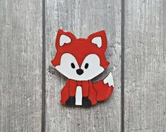 Hand-crafted jewelry made of wood, paper and resin by ColoreriaStudio Fox Jewelry, Shawl Pin, Unique Gifts For Her, Cute Fox, Woodland Creatures, Red Fox, Cloak, Polymer Clay Earrings, Stocking Stuffers
