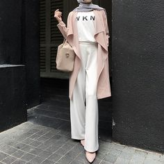 54 ideas for fashion hijab style outfits beautiful Street Hijab Fashion, Muslim Fashion, Modest Fashion, Fashion Outfits, Islamic Fashion, Casual Hijab Outfit, Hijab Chic, Ootd Hijab, Modest Dresses