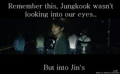 O.O... I thought he was looking at Jin cause Jin was the only one not walking with them at the end. :(