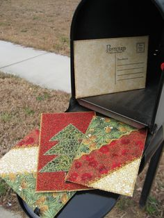 Quilted Postcards   MAIL A QUILT.   $15.00, via Etsy.