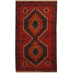 Herat Oriental Afghan Hand-knotted Vegetable Dye Tribal Balouchi Wool Rug
