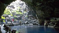 Jameos del Agua...a huge lava tube made into a space tht is part tropical garden, part concert venue and part nightclub.  I visited the nightclub back in the 1980s.  Located in Lanzarote, Canary Islands.