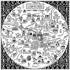 Ledburyshire Map by Paul Bommer