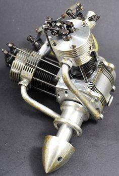 V twin F/S R/C glow engine made by PROFI. NEARLY NEW.