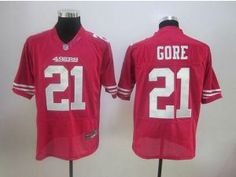 Nike NFL Elite 49ers  21 Frank Gore Red Stitched NFL Jersey Michael Jordan  Shoes fe0f057aa