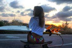 skate surf girl