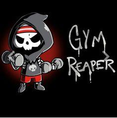 Get the black Gym Reaper t-shirt only at TeeTurtle! Cute Cartoon Drawings, Cute Animal Drawings, Arte Obscura, Dibujos Cute, Arte Horror, Cute Tshirts, Nerdy Shirts, Cute Chibi, Grim Reaper