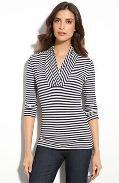 St. John Collection Stripe Tee  $295, Nordstrom.com