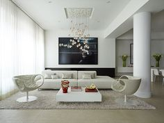 Looking for modern contemporary living room designs? We've have hand selected images and tips from top modern interior designers to get you inspired today. Home Design, Interior Design Trends, Design Salon, Apartment Interior Design, Interior Decorating, Design Ideas, Room Interior, Decorating Ideas, Design Design