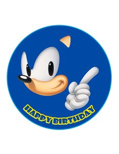 Edible Cake Cupcake Topper Decoration Image Sonic by CakersWorld