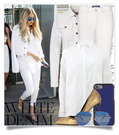Bright White: Summer Denim - Gigi Hadid by tina-abbara on Polyvore featuring polyvore, fashion, style, Brunello Cucinelli, Tom Ford, Dolce&Gabbana, Christian Dior, clothing and whitejeans