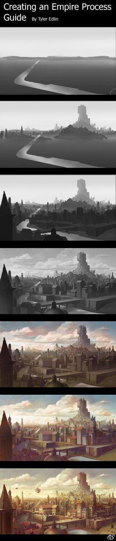 波兰原画师meago的场景绘画教程