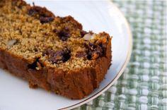 banana pumpkin chocolate chip and walnut bread - gluten free