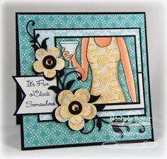 This is just a stunning card!  Love the color combo, the paper piecing and those flowers!!!!