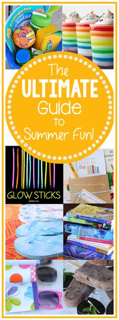 Your ultimate guide to summer fun: kids crafts, summer treats, buckets lists, road trip tips, backyard games and so much more all in one place!