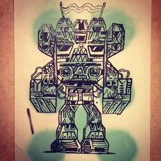 #maskbots #sketch #doodle #robot #art #streetart #graffiti #markers #makeyourmark #maskbot #drawing #drawmore #draw #piirros #piirustus Robot Art, Make Your Mark, Rock Revival, Markers, Graffiti, Street Art, Doodles, Sketches, Drawings