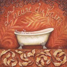 Découpage des feuilles: salle de bain