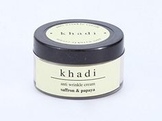 Khadi Saffron & Papaya Anti Wrinkle Cream - 50 ml - For Sale Check more at http://shipperscentral.com/wp/product/khadi-saffron-papaya-anti-wrinkle-cream-50-ml-for-sale/