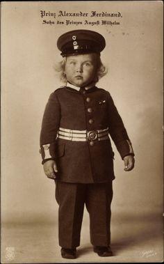 Toddler Prince Alexander Ferdinand in uniform.  Adorable pic.