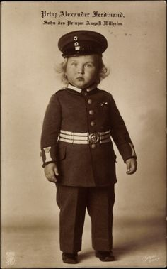 Toddler Prince Alexander Ferdinand in uniform.  Adorable pic.