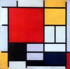 Composition with Large Red Plane, Yellow, Black, Gray, and Blue (1921)