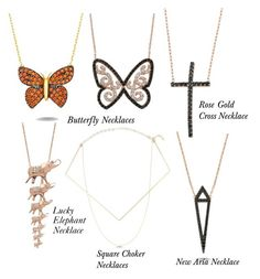 """""""Necklaces-New Best Sellers"""" by amorium ❤ liked on Polyvore featuring Amorium"""