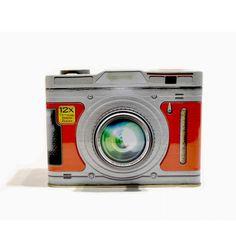 Caja metal Cámara de fotos retro roja
