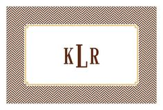 Chocolate Herringbone Paper Placemats - great way to honor the guest of honor for a sophisticated party