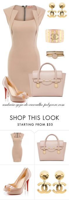 """""""A KISS IS JUST A KISS..."""" by andreia-goja-de-carvalho ❤ liked on Polyvore featuring Versace, Christian Louboutin, Chanel and American Apparel"""