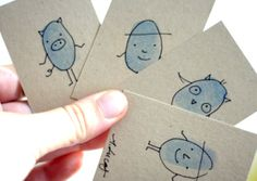 Thumbprint Trading Cards by Ashley Lucas for JCFamilies