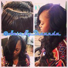 Brazilian hair sewin extensions , weave, long hair, hair by shaunda www.styleseat.com/hairbyshaunda sew in